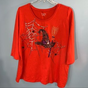 Catherines Halloween Shirt with Sequins